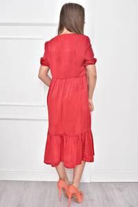 Платье короткое нарядное с кружевом Т7463