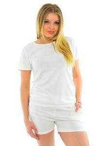 Костюм классический летний белый М6522