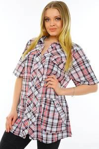 Рубашка в клетку с коротким рукавом М9586
