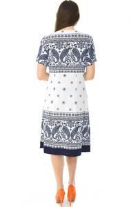 Платье короткое с принтом офисное Н6580