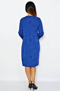 Платье длинное деловое зимнее М0271