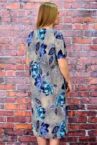 Платье длинное нарядное с коротким рукавом П5707