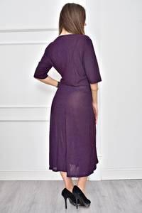Платье длинное с принтом в горошек Т8972