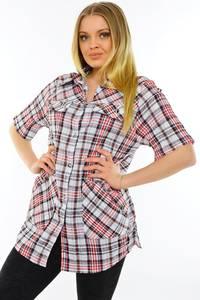 Рубашка удлиненная с коротким рукавом М9587