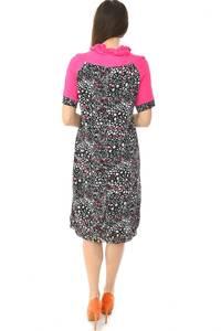 Платье длинное с коротким рукавом офисное Н6581