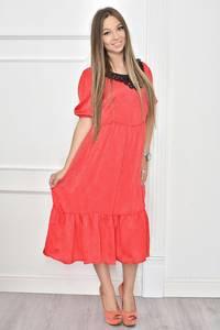 Платье короткое нарядное с кружевом Т7465