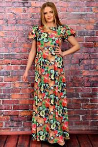 Платье длинное нарядное с принтом П6050