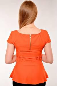 Блуза для офиса с коротким рукавом Е8747