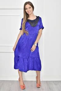 Платье короткое нарядное с кружевом Т7467