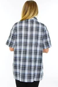 Рубашка в клетку с коротким рукавом М9589