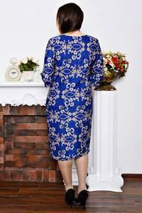Платье длинное с принтом зимнее Р5767