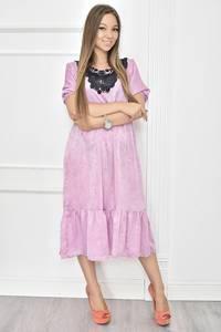 Платье короткое нарядное с кружевом Т7469