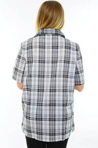 Рубашка удлиненная в клетку М9591
