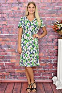 Платье длинное повседневное с принтом Т5922