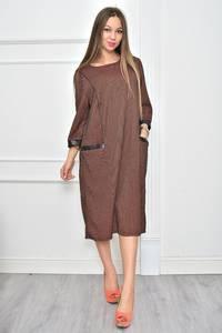 Платье длинное нарядное деловое Ф0121