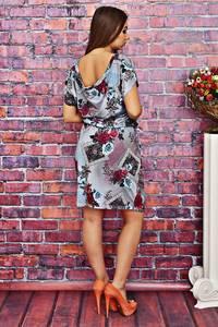 Платье короткое с принтом летнее Т4151