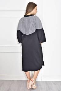 Платье короткое черное с длинным рукавом Т6725