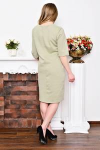Платье длинное однотонное офисное Р3533