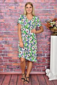 Платье длинное повседневное с принтом Т5923
