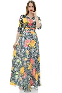 Платье длинное летнее с принтом П6690