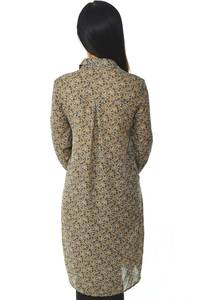Рубашка-туника с принтом прозрачная с длинным рукавом Н5956