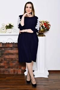 Платье длинное с кружевом зимнее Р5770