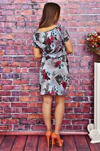 Платье короткое с принтом летнее Т4153