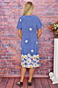Платье длинное повседневное с принтом Т5924
