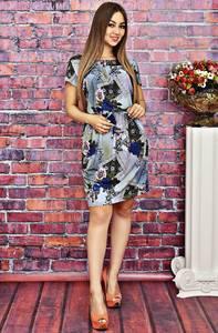 Платье короткое с принтом летнее Т4155