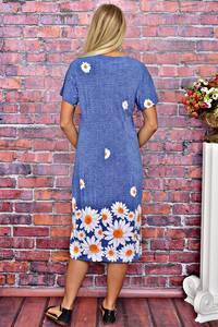 Платье длинное повседневное с принтом Т5925