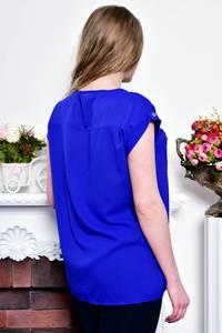 Блуза синяя с коротким рукавом Р9311