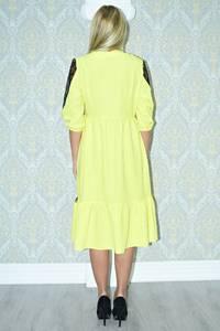 Платье длинное вечернее желтое Р9812
