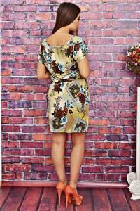 Платье короткое с принтом летнее Т4154