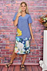 Платье длинное повседневное с принтом Т5926