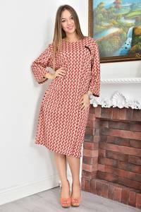 Платье короткое с принтом Ф4619