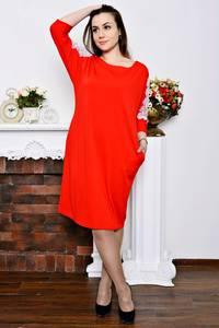 Платье длинное красное зимнее Р5773