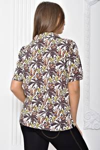 Рубашка с принтом с коротким рукавом Т2456