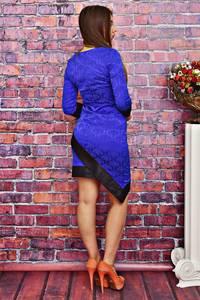 Платье короткое облегающее синее Т4178