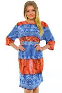 Платье длинное трикотажное нарядное М7027