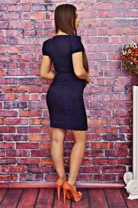 Платье короткое облегающее синее Т4179