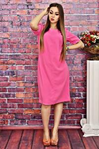 Платье короткое однотонное нарядное Т4180
