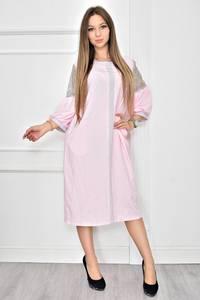 Платье короткое нарядное с кружевом Т8985