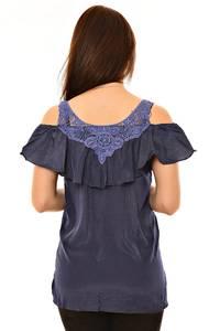 Блуза летняя с кружевом Л5970