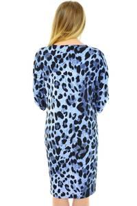 Платье длинное с принтом трикотажное Н0608