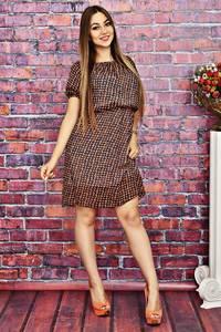 Платье короткое с принтом летнее Т4221