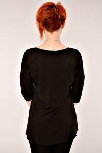 Блуза черная офисная К2621