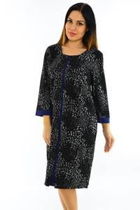 Платье длинное черное офисное М6074