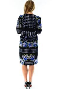 Платье короткое с принтом зимнее П1228