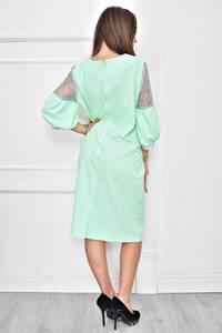 Платье короткое нарядное с кружевом Т8986