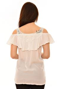 Блуза летняя с кружевом Л5971